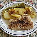 Filets de merlu et pommes de terre du pauvre ( papas a lo pobre )
