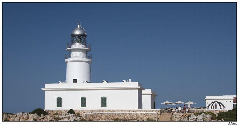 le phare du cap de cavalleria, à l'extrême nord de l'île