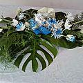 (7) composition florale pour baptême(25.00)