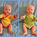 La garde-robe de la poupée de noël ou comment j'ai cassé ma surjetteuse toute neuve ...