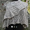 Mon ethereal triangular shawl !