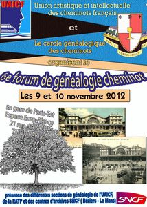 ForumParis genealogie 2012_Affiche