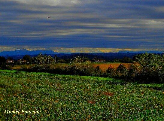 Les Alpes, vue depuis l'Est Lyonnais
