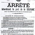 Rappel historique : loi sur la laïcité 1905