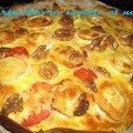 Tarte tomate, chèvre et noix