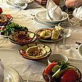 Mezzes dans un restaurant de Damas