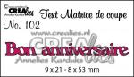 matrice de coupe texte n°102