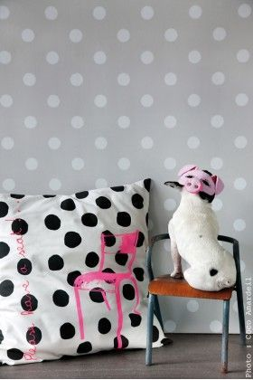 coussin-school-pois