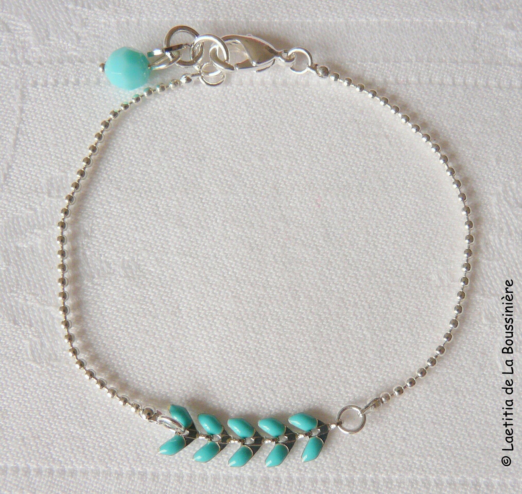 Bracelet César (turquoise argent)