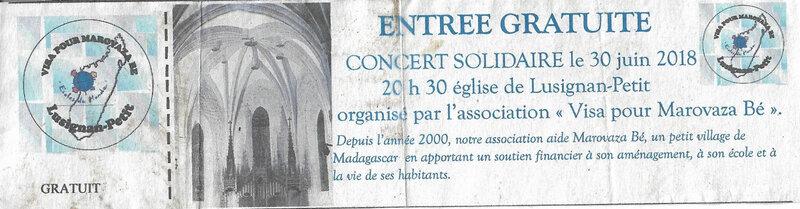 concert 30 juin 2018