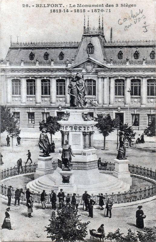 Belfort Monument 3 Sièges Schmitt n° 26 BF R