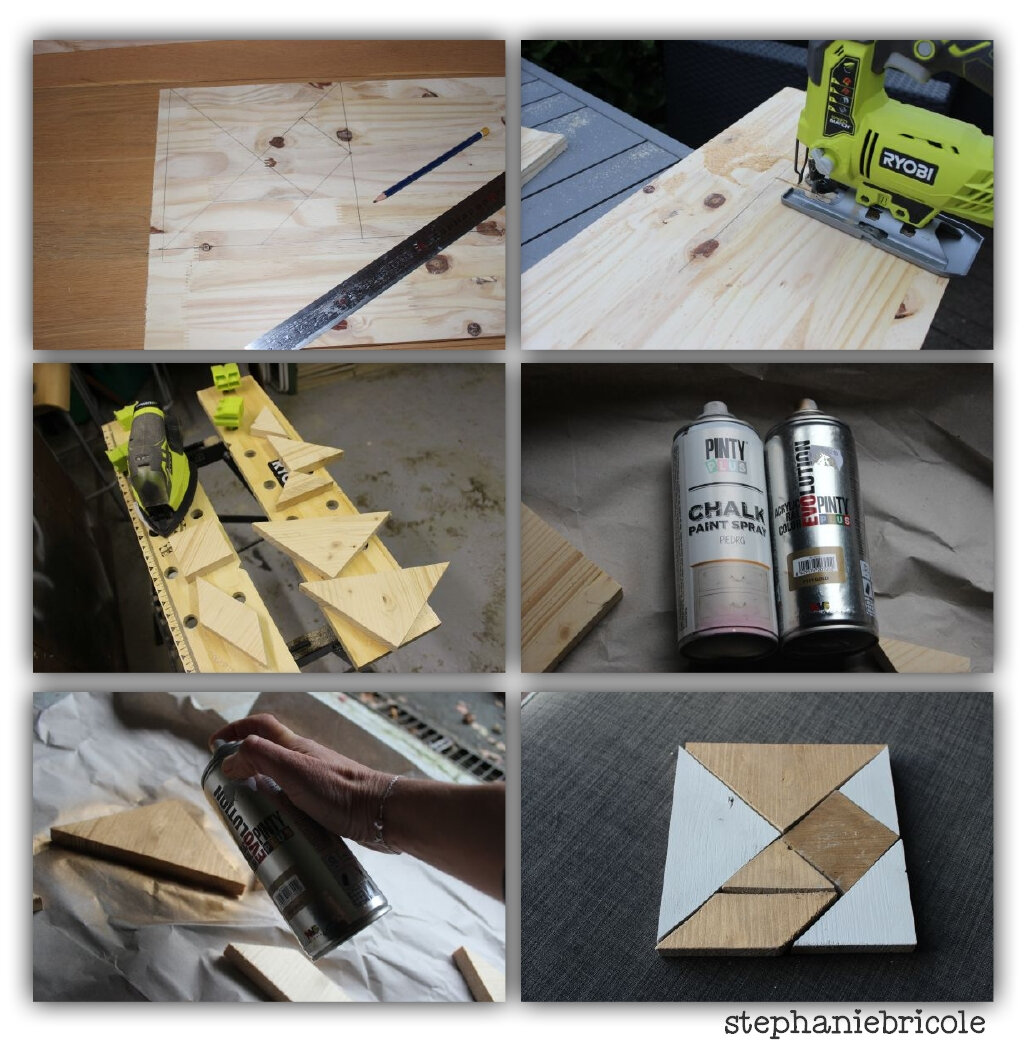 diy d co un tangram en bois xxl et des jeux en bois. Black Bedroom Furniture Sets. Home Design Ideas
