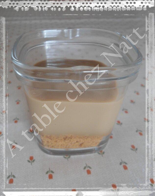 verrines crème café spéculoos