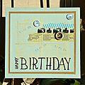 Carte d'anniversaire Karine - Février 2014