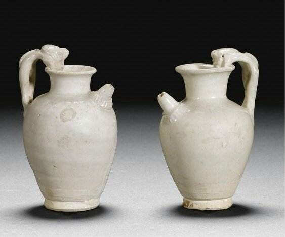 Two miniature ewers, Tang dynasty (618-907)