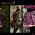 Jupe boule tweed