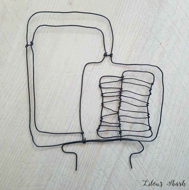 tuto decoration fil d'aluminium tracto pelle