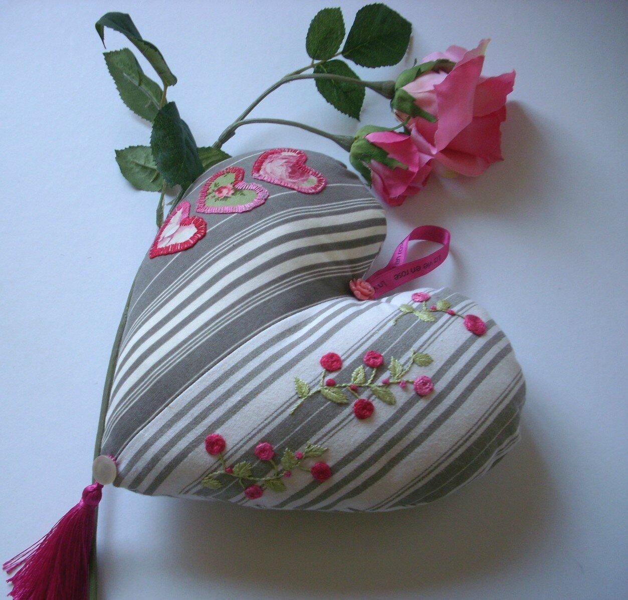 coeur aux roses