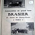 Brasier automobile 1919 publicite ancienne au 4