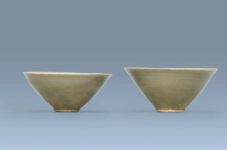 Two Yaozhou tea bowls, Northern Song dynasty (960-1127)