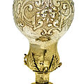 A german silver-gilt gourd-shaped cup and cover, hans weienmayr, augsburg, 1610-12, and later