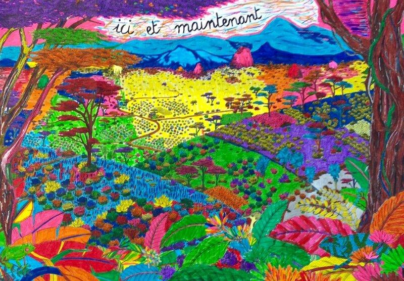 Coloriage collectif géant terminé le 18 février 2017