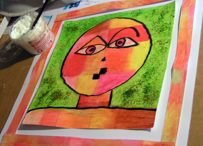 5-Chaud Froid-Portraits inspiration Paul Klee (27)