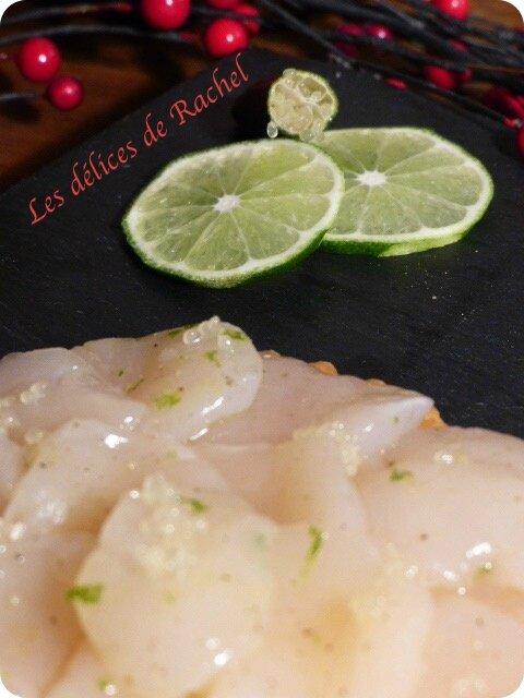 St Jcques & citron caviar detail