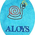 aloys escargot fond bleu clair