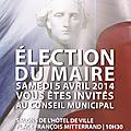 Election du maire d'alfortville
