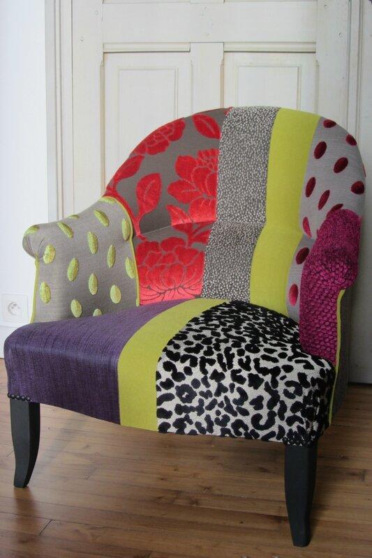 crapaud en patchwork tapissier à Lesneven