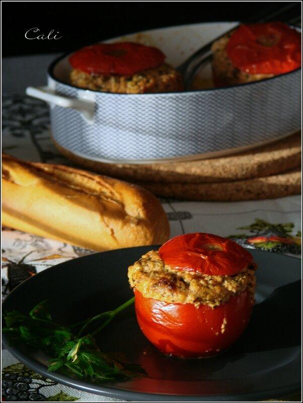 Tomates Farcies à la Persillade, Feta & Jambon Blanc 001
