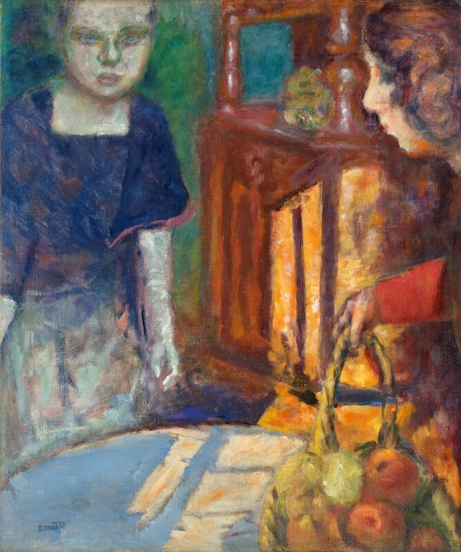 The_Blue_Dress__Two_Women_and_a_Basket_of_Fruit