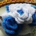 Tea cosy blue flowers 10