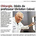 Le décès d'un éminent cardiologue : le professeur cabrol avait appris le breton