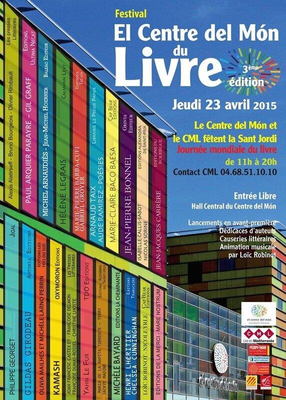 Festival El Centre del Mon du Livre - 3ème édition 2015 - Compte-rendu