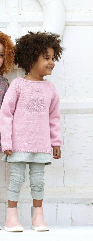 modèle tunique rose avec broderie sac