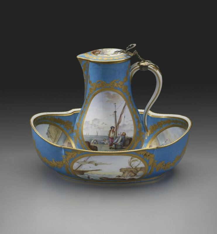 Water Jug and Basin, Sèvres Porcelain Manufactory,French, 1781
