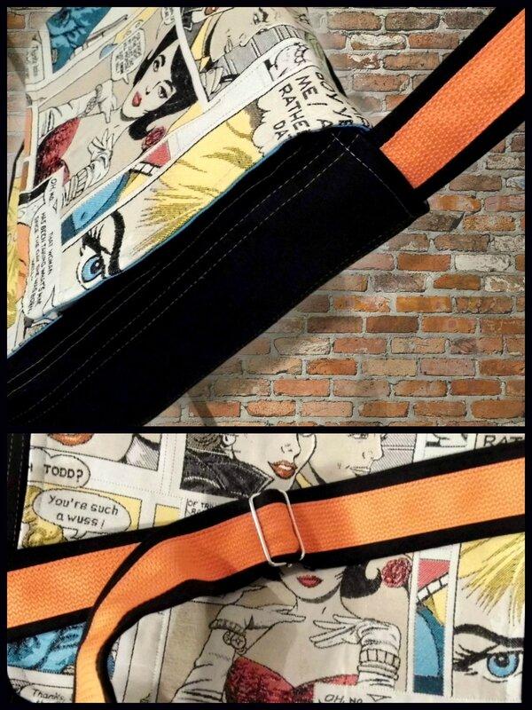 Sangle et bandoulière besace comics oct 2013