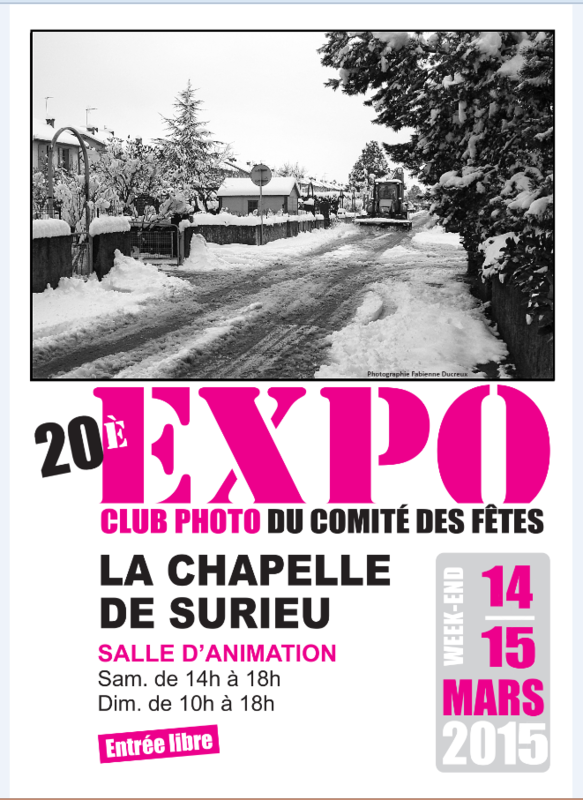 EXPOSITION PHOTOS - LA CHAPELLE DE SURIEU - WEEK-END 14 & 15 MARS 2015