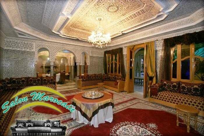 Tapisserie Salon Marocain Aussi Des Tables Et Multiples Meubles