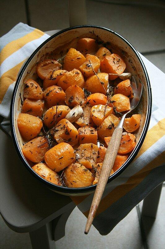 navets boules d'or rôti - passion culinaire