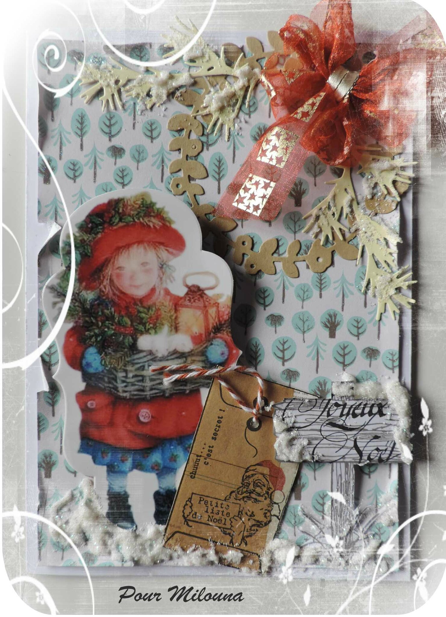 Pour Milouna * Noël 2016 & Vœux 2017