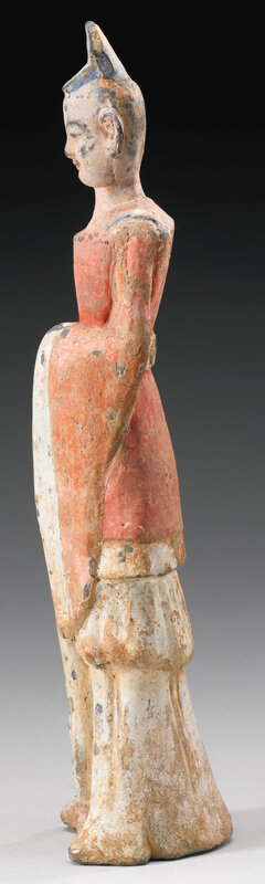 A painted pottery figure of an official, Northern Wei dynasty (386-534)2