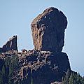 Roque nublo, île de gran canaria.