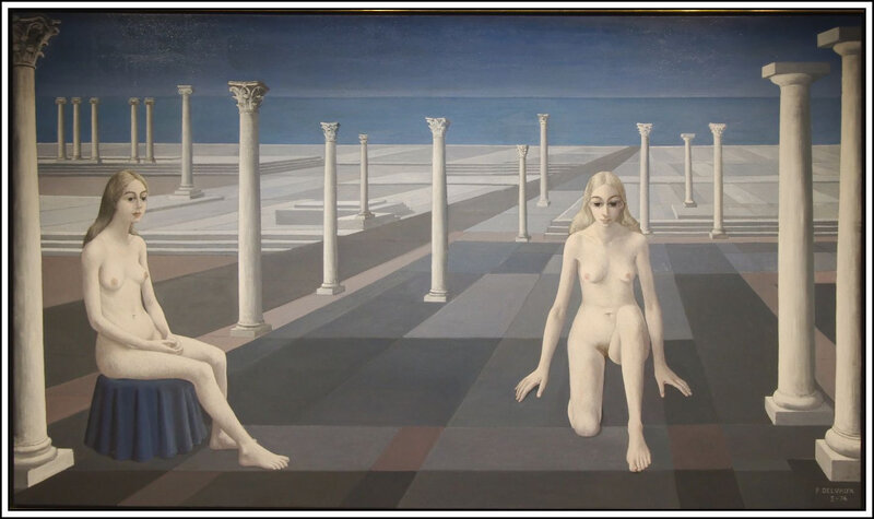 Paul Delvaux - Le dialogue