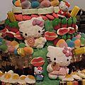 gateau de bonbons hello kitty pieces montées 4 etages (4)