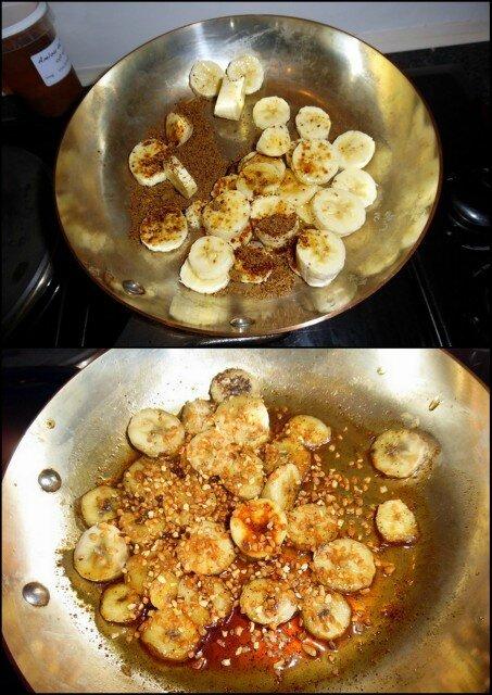 bananes caramélisées spéculos