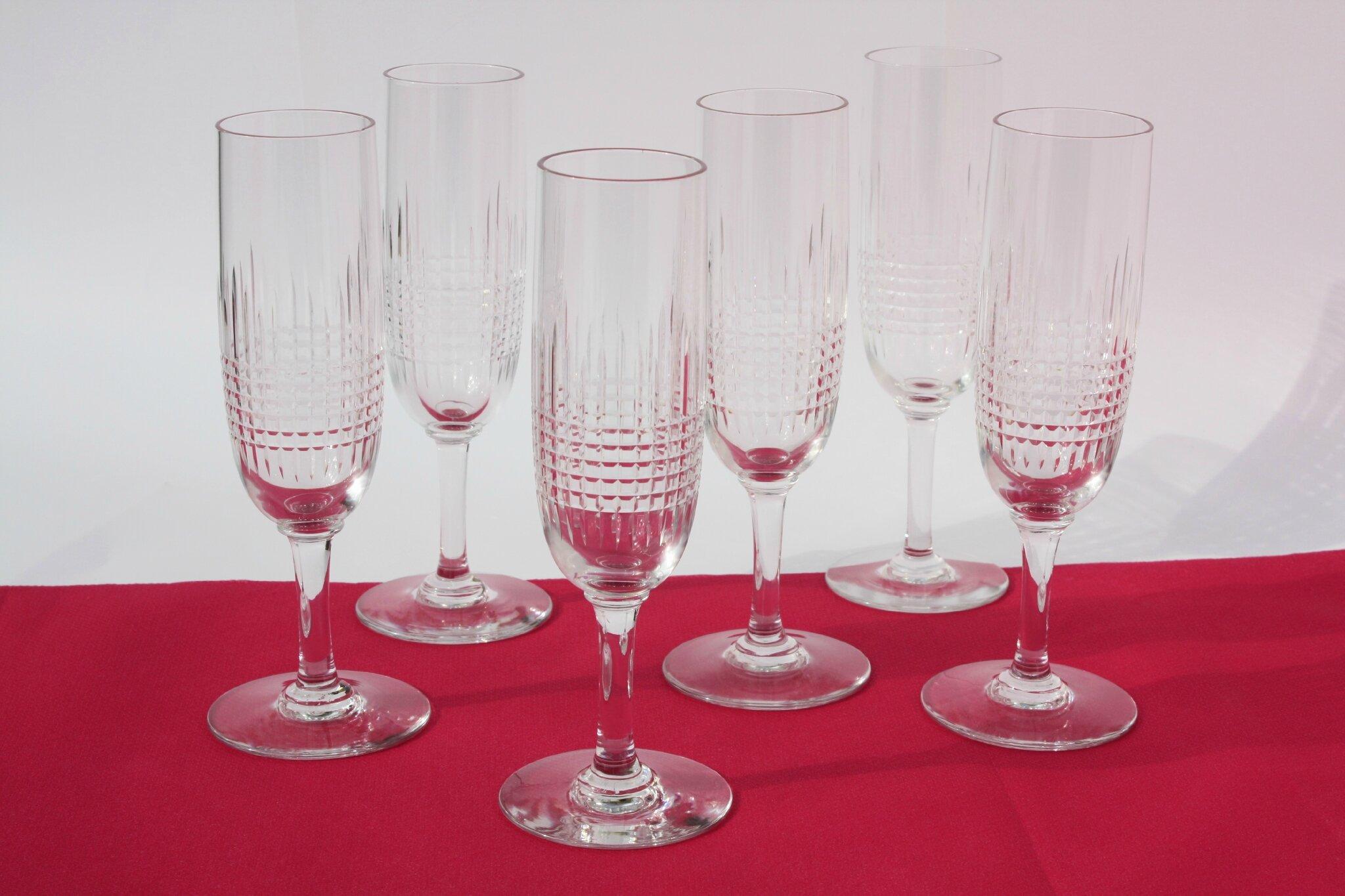 Flûtes à champagne Baccarat Nancy