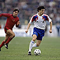 17 novembre 1990 ALBANIE-FRANCE ...MATCH QUALIFICATIF POUR LE CHAMPIONNAT D'EUROPE 1992